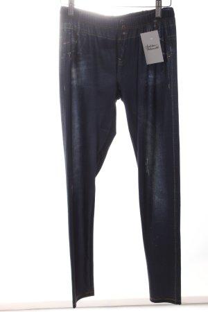 AJC Leggings dunkelblau extravaganter Stil