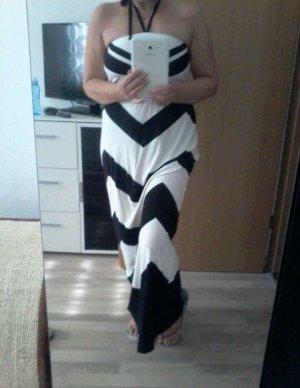 AJC Maxi Dress white-black