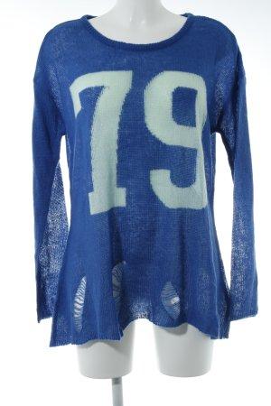 AJC Rundhalspullover blau-türkis Casual-Look