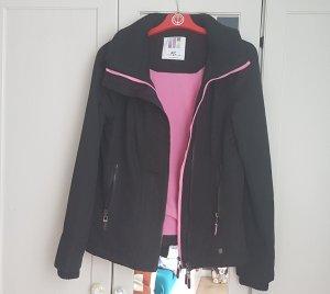 AJC Schwarze Sportjacke mit warmen Fleece Futter in Rosa S 36