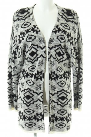 AJC Knitted Cardigan natural white-black graphic pattern casual look