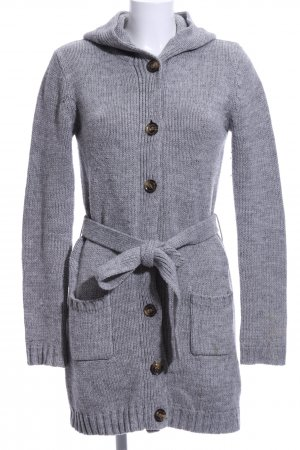 AJC Knitted Cardigan light grey flecked casual look