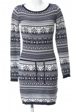 AJC Knitted Dress white-dark blue abstract pattern casual look