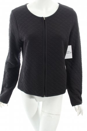 AJC Sweatblazer schwarz Steppmuster Casual-Look