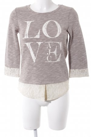 AJC Sweat Shirt light brown-cream flecked casual look