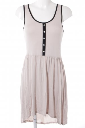 AJC High Low Dress beige-black casual look
