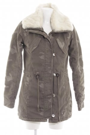 AJC Winter Jacket khaki-cream camouflage pattern street-fashion look