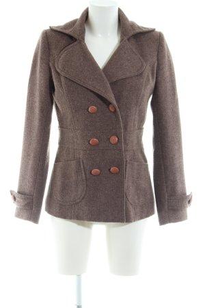 AJC Veste en laine bronze style décontracté