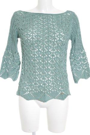 ake' Strickpullover blassblau Webmuster Street-Fashion-Look