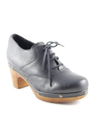 Akira Ankle Boots schwarz-braun Retro-Look