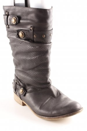 Akira Booties black casual look