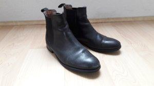 Akira Chelsea Boots Leder schwarz Gr. 37