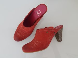 Akira Clog Sandals bright red-light brown