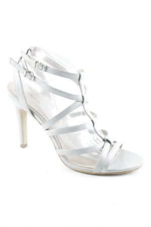 Akira High Heels silver-colored-cream elegant