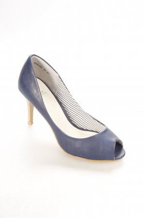 Akira Peeptoe Pumps dunkelblau Eleganz-Look