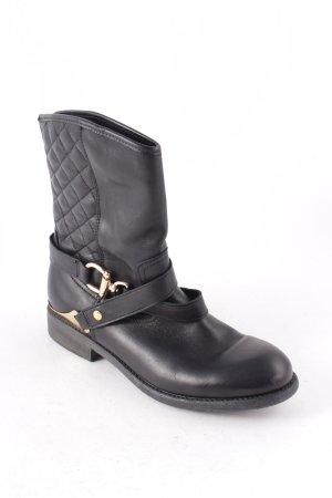 Akira Hoge laarzen zwart-goud straat-mode uitstraling