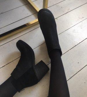 Akira Booties black leather