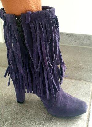 Akira Zipper Booties blue violet-black