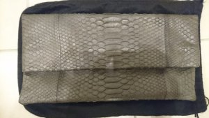 Akkesoir Clutch grijs Reptielenleer