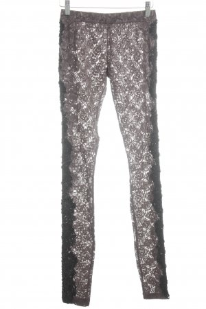 Akkesoir Leggings black-brown floral pattern romantic style