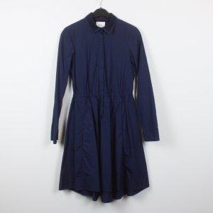 Akris punto Vestido camisero azul oscuro Algodón