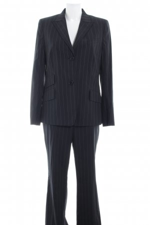 Akris Trouser Suit black-natural white pinstripe business style