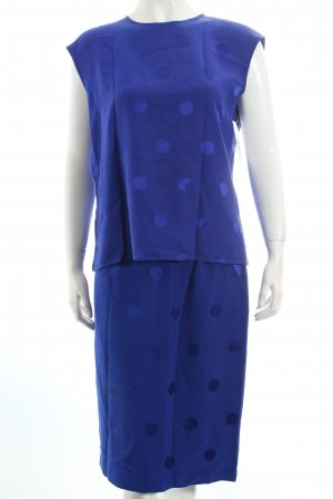 Akris Ladies' Suit blue spot pattern party style