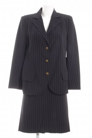 Akris Ladies' Suit dark blue-natural white pinstripe business style