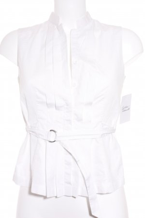Akris punto Mouwloze blouse wit elegant