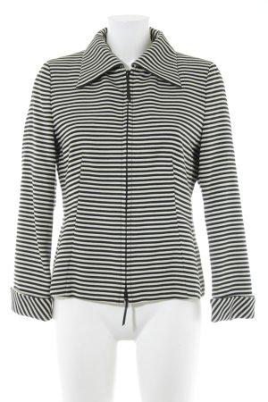 Akris punto Jersey blazer zwart-room horizontale strepen zakelijke stijl