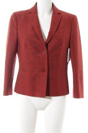 Akris punto Blazer corto rosso scuro motivo a righe stile professionale