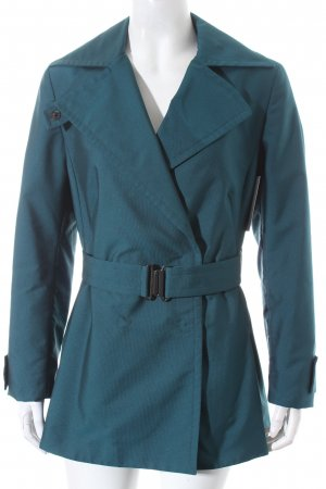 Akris punto Trenchcoat petrol Street-Fashion-Look