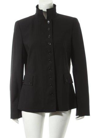 Akris punto Woll-Blazer schwarz klassischer Stil