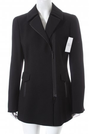 Akris punto Wollen jas zwart casual uitstraling