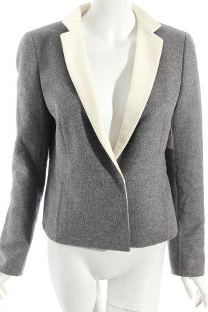 Akris Woll-Blazer grau-weiß schlichter Stil