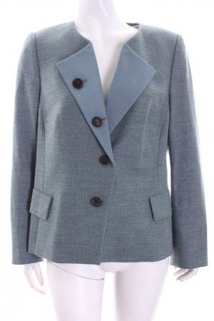 Akris Wool Blazer light blue-lime-green retro look