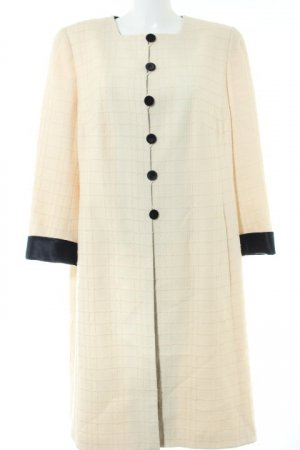 Akris Wool Coat cream-black check pattern Brit look
