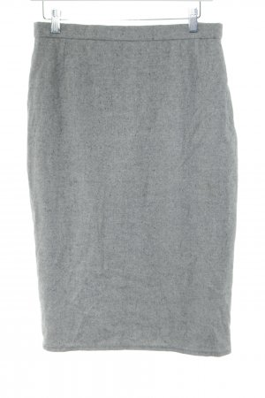 Akris Wool Skirt light grey flecked business style