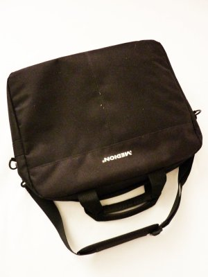 Laptop bag black textile fiber