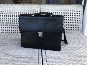 Aktentasche/Laptoptasche, Leder, schwarz