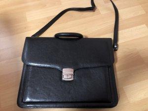 Briefcase black-silver-colored