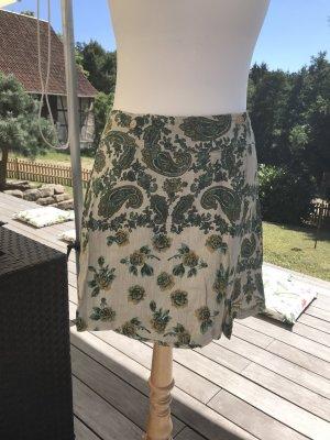 Falda de talle alto multicolor Algodón