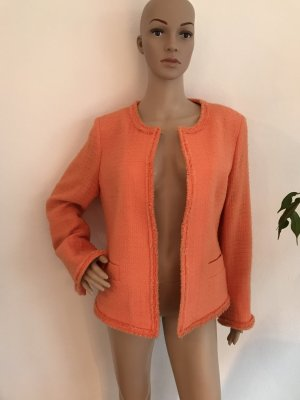 Aust Blazer en tweed orange tissu mixte