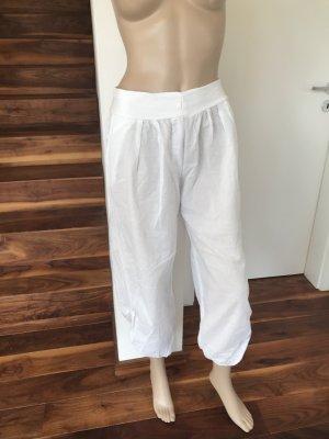 Pantalon large blanc coton
