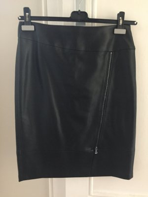 Gerry Weber Leather Skirt black polyester