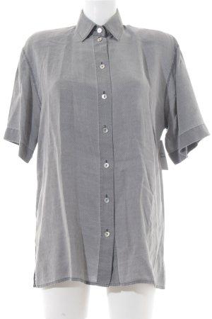 Aktuell Kurzarmhemd grau-hellgrau grafisches Muster Casual-Look