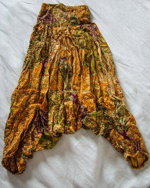 Pantalón pirata multicolor Algodón