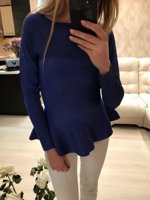 Alaïa Maglione lavorato a maglia blu-blu scuro