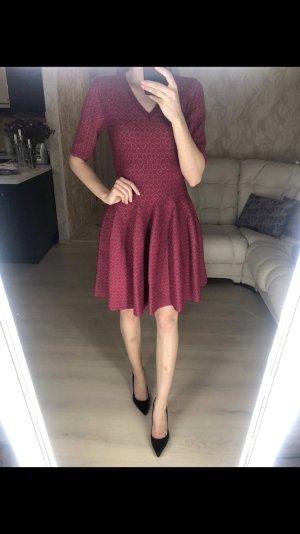 Alaïa Robe en maille tricotées bordeau