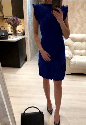 Alaïa Stretch jurk donkerblauw-blauw